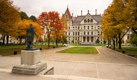 State Capitol Building Statehouse Albany New York Lawn Landscaping royalty free stock image