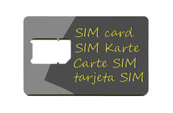 Full-size SIM card carrier Stock Photos