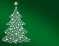 Full size Snowflake Christmas Tree Stock Images