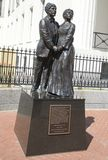 Full Size Statue of Dred Scott and Wife Harriet Robinson Stock Photos