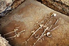 Full skeleton. Found full skeleton in the ruins temple, Phetchabun province, Thailand royalty free stock photos