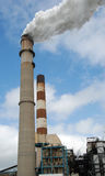 Full Smoke Stack stock photography