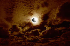 Full solar eclipse royalty free stock photo