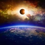 Full solar eclipse Stock Photography