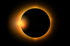 Full solar eclipse phenomenon illustration stock illustration