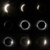Full Solar Eclipse. The total Solar Eclipse in Altai region of Russia August 01, 2008 royalty free stock images