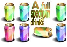 A full spectrum of drinks (vector) Stock Photos