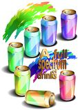 A full spectrum of drinks (vector) Stock Photography