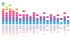 Full spectrum equalizer Royalty Free Stock Photos