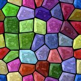 Full spectrum multi colored marble irregular plastic stony mosaic pattern texture seamless background  Stock Photos