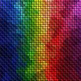 Full spectrum rainbow knit pattern textrure Royalty Free Stock Photo