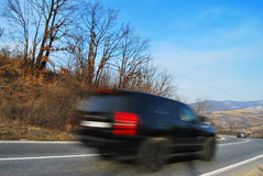 Full speed. A car with very high speed Stock Image