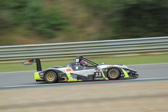 Full speed ahead. Wolf racecar driving at full speed in the Zolder 24 hour race (Belcar championship Royalty Free Stock Photo