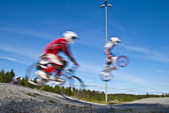 Full speed and airy jumps Stock Image