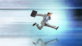 Full speed businessman Stock Photography