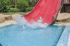 Full speed in the waterslide, image 3 Royalty Free Stock Image