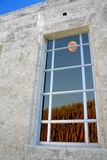 full spegelförsedd moon tonat fönster Arkivbild