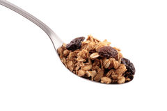 Full spoon of granola Stock Images