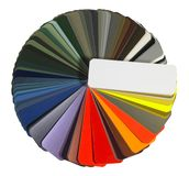 Full spread color chart Royalty Free Stock Photo