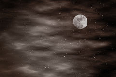 Full star and moon sky brown planet background Stock Image