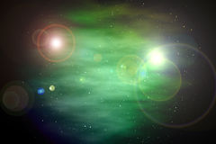 Full star sky colorful planet background, dark cloud galaxy backdrop Stock Photography