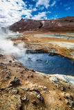 Full of steam and sulfur Namafjall terrain, Iceland Stock Image