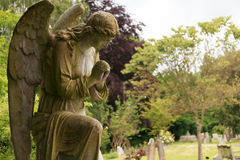 Full Stone angel in colour stock photo