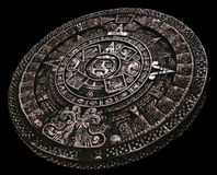 Full stone mayan calendar from distance Royalty Free Stock Images