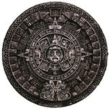 Full stone mayan calendar frnt view royalty free stock images