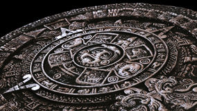Full stone mayan calendar from perspective Royalty Free Stock Image