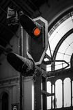 Full Stop! - Keleti Trainstation, Budapest -. Full Stop! - stop signal inside the Keleti Trainstation, Budapest Royalty Free Stock Images