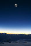Full Sun Eclips 2006. From Mt. Elbrus (Altitude 3900 meters above the Sea Royalty Free Stock Photography