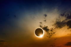 Full sun eclipse Stock Photos