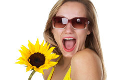Full of Surprise!. Beautiful Caucasian Women with a look of surprise on her face Royalty Free Stock Image