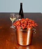 Full svans av reverhummer med vin Royaltyfri Foto