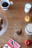Full table for Fresh Good Morning Stock Image
