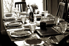 Full Table Setting Royalty Free Stock Image