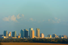 Full Tampa Florida skyline showing construction growth on south Stock Image