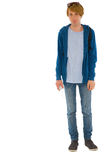 Full teenage boy standing Royalty Free Stock Photo