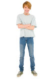 Full teenage boy standing Royalty Free Stock Photos