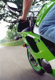 Full Throttle Sportbike. Afternoon ride on a sportbike down back-country roads Stock Photo