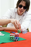 Full tilt poker player Stock Photos