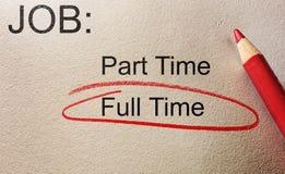 Full Time job stock photos