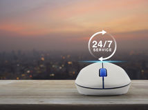 Full time service concept Stock Image