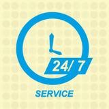 Full time service design. Full timeservice design,  illustration eps10 graphic Stock Image