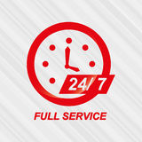 Full time service design. Full timeservice design,  illustration eps10 graphic Royalty Free Stock Photo