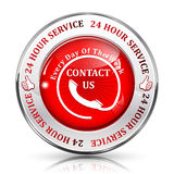 Full Time Support Service. 24/7 hour service. Stock Photography