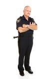 full tjänstemanpolis för huvuddel Arkivbilder