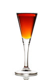 Full to the brim. Elegant cocktail glass with beverage royalty free stock image
