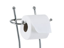 Full toilet paper roll on the stand Royalty Free Stock Photography